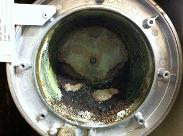 Boiler Clean before heat exchanger clean done with piles of sediment.
